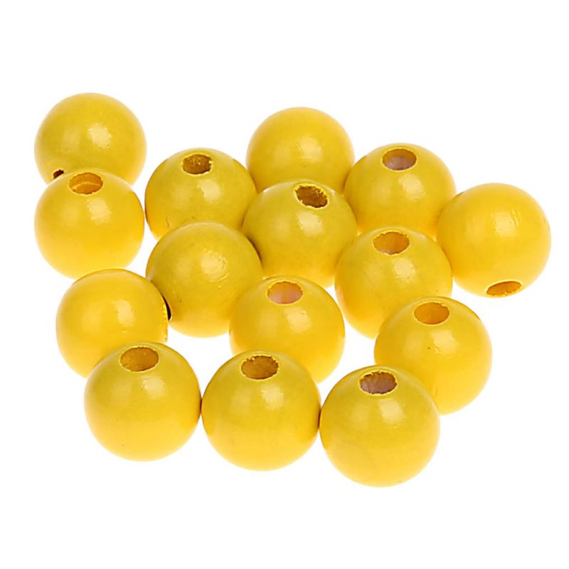 Holzperlen 10mm • 50 Stück 'gelb' 342 auf Lager