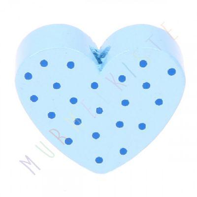 Motivperle Herz gepunktet 'babyblau' 0 auf Lager