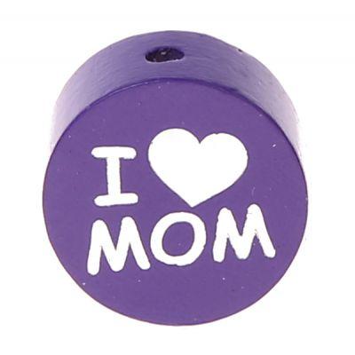Motivperle I Love MOM / DAD 'lila' 641 auf Lager