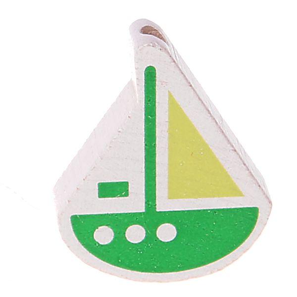 Motivperle Schiffchen 'gruen-lemon' 683 auf Lager