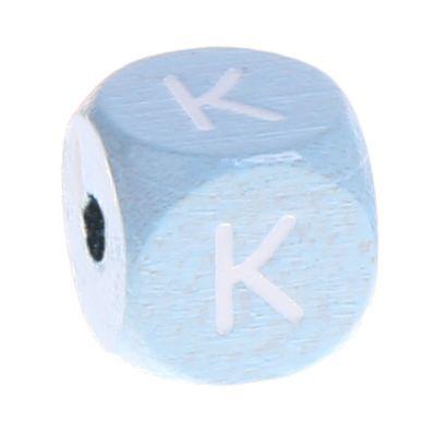 Buchstabenperlen babyblau 10x10mm 'K' 748 auf Lager