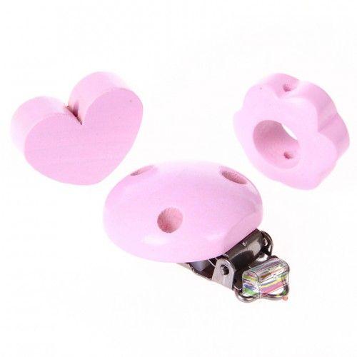 Schnullerketten Bastelset Mini 'rosa' 0 auf Lager