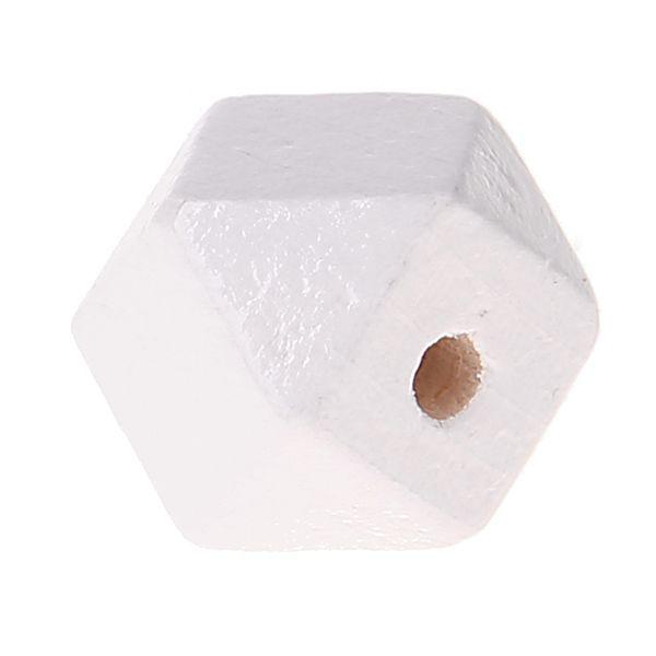 Hexagonperlen 16mm 'weiß' 381 auf Lager