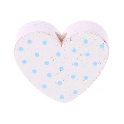 Motivperle Herz gepunktet 'weiß-babyblau' 1363 auf Lager