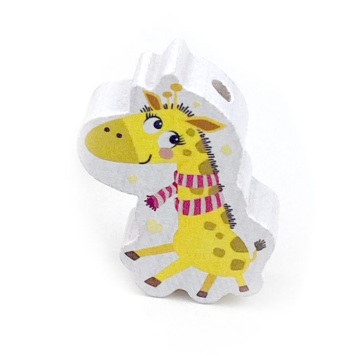 Motivperle Giraffe 'Giraffe Schal pink' 72 auf Lager