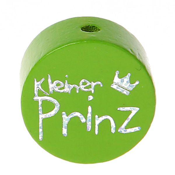 Motivperle Scheibe kleiner Prinz Glitzer 'gelbgrün' 7 auf Lager