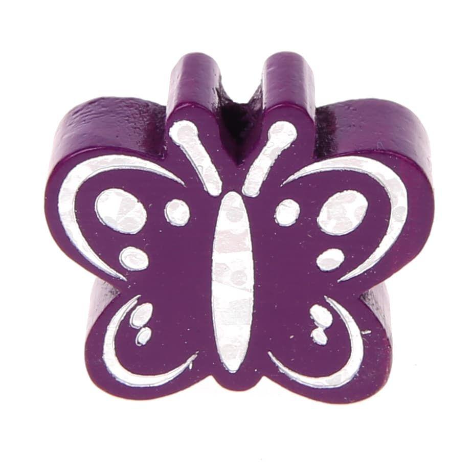 Motivperle Schmetterling Glitzer 'purpur' 587 auf Lager