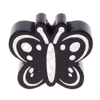 Motivperle Schmetterling Glitzer 'schwarz' 189 auf Lager