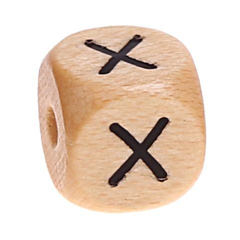 Buchstabenwürfel Holz geprägt 10 mm 'X' 3292 auf Lager