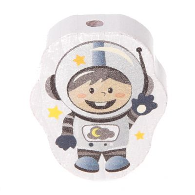 Motivperle Astronaut 'hellgrau' 40 auf Lager