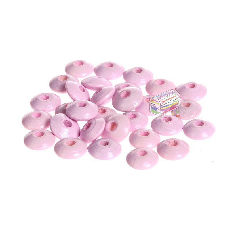 Holzlinsen 10mm • 50 Stück 'rosa' 371 auf Lager