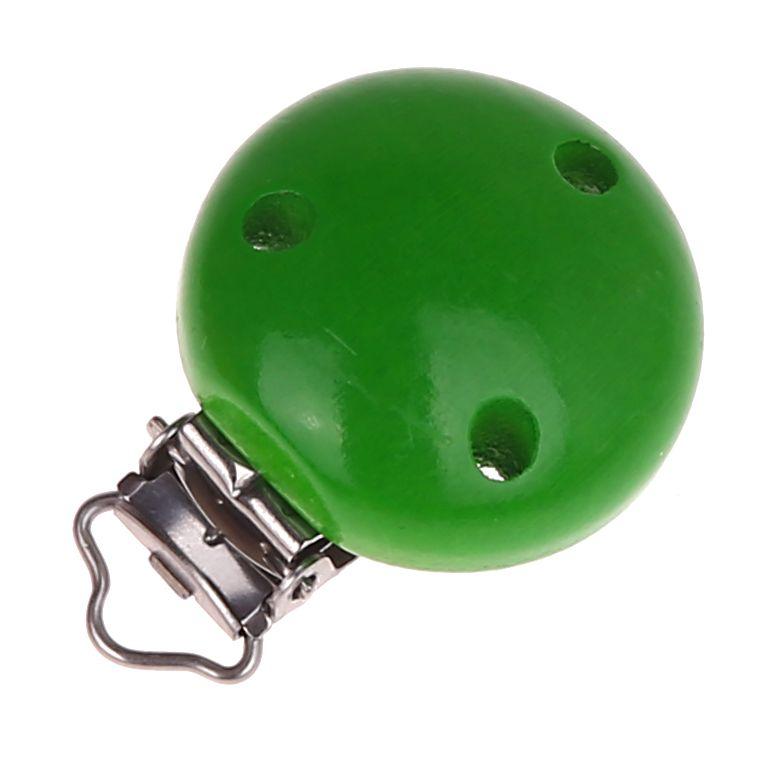 Holzclip / Schnullerclip Ø35mm 'grün' 670 auf Lager