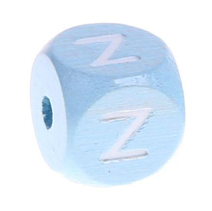 Buchstabenperlen babyblau 10x10mm 'Z' 437 auf Lager