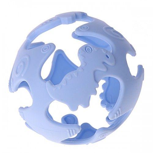 Silikonball Dinosaurier 'babyblau' 6 auf Lager
