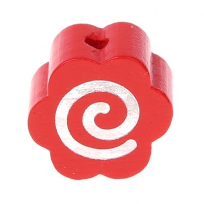 Motivperle Glitzerblümchen Spirale 'rot' 564 auf Lager