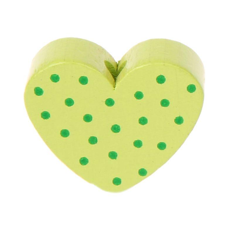 Motivperle Herz gepunktet 'lemon' 1290 auf Lager
