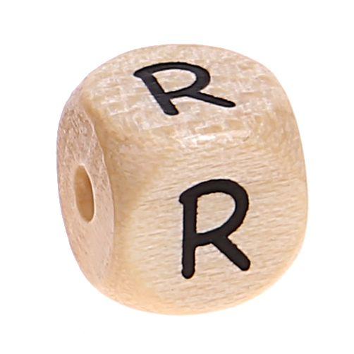 Buchstabenwürfel Holz geprägt 10 mm 'R' 799 auf Lager