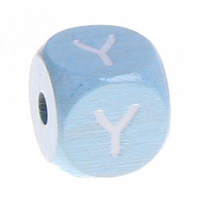 Buchstabenperlen babyblau 10x10mm 'Y' 422 auf Lager