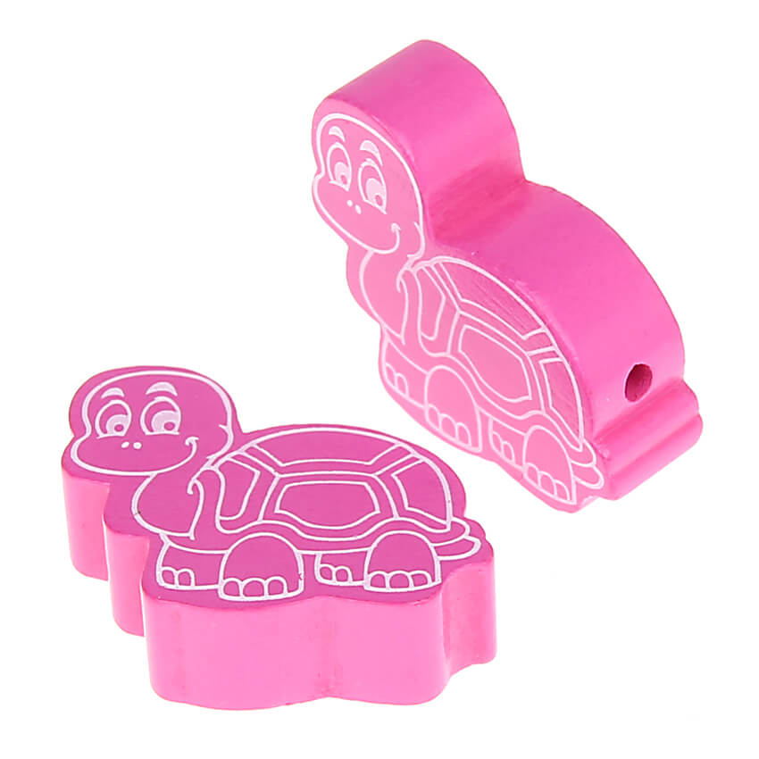 Motivperle Schildkröte • 10 Stück 'pink' 187 auf Lager