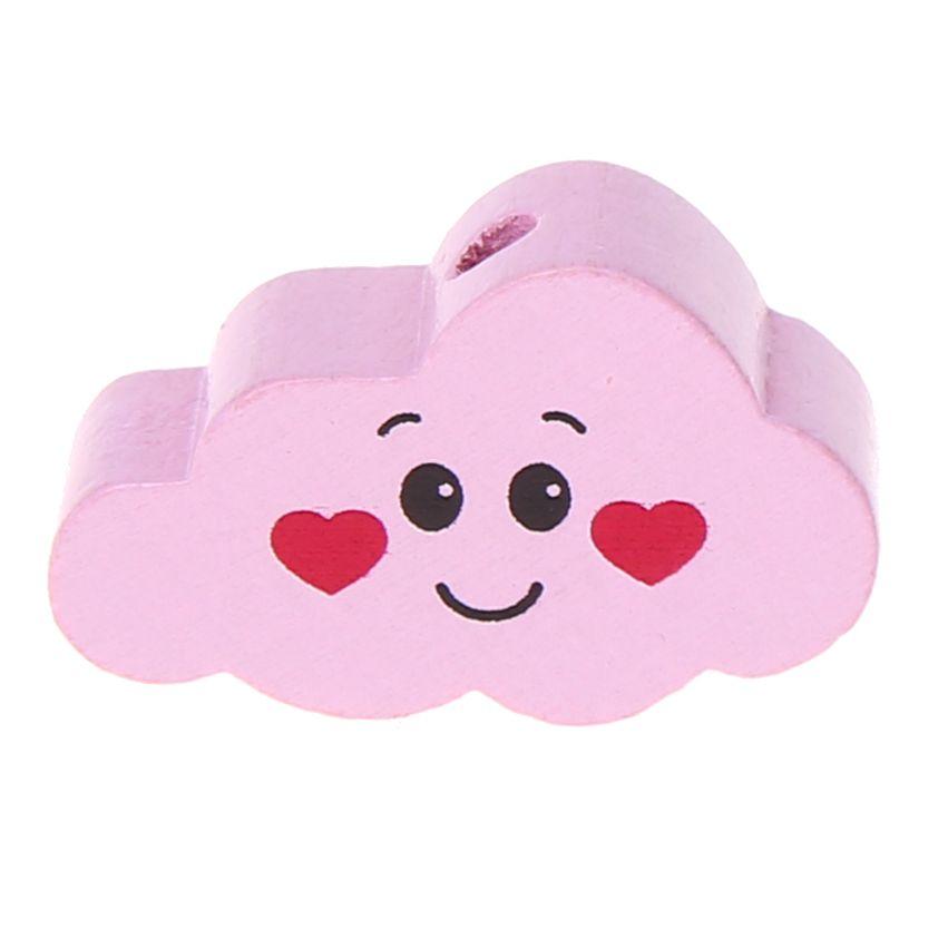 Motivperle Wolke Gesicht 'rosa' 114 auf Lager