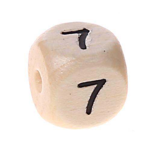 Zahlenperlen 10 mm geprägt '7' 572 auf Lager