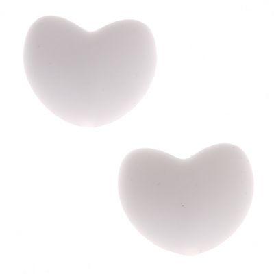 Silikonmotiv Herz 'weiß' 0 auf Lager