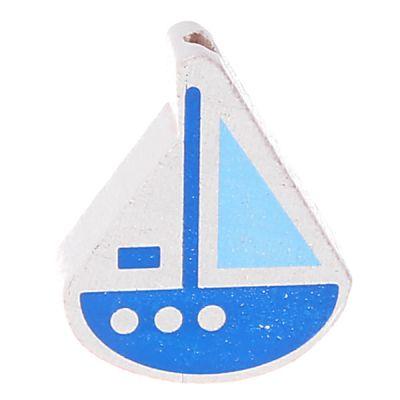 Motivperle Schiffchen 'mittelblau-babyblau' 1066 auf Lager