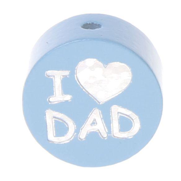Motivperle I Love MOM / DAD 'babyblau' 1030 auf Lager