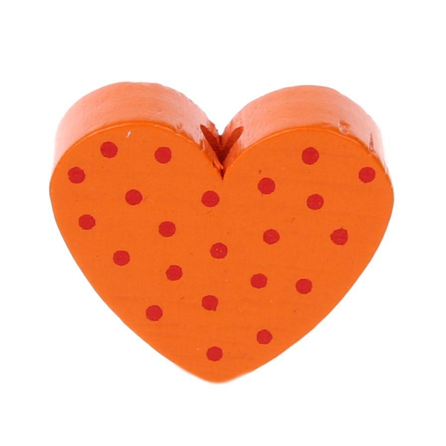 Motivperle Herz gepunktet 'mandarin' 1278 auf Lager