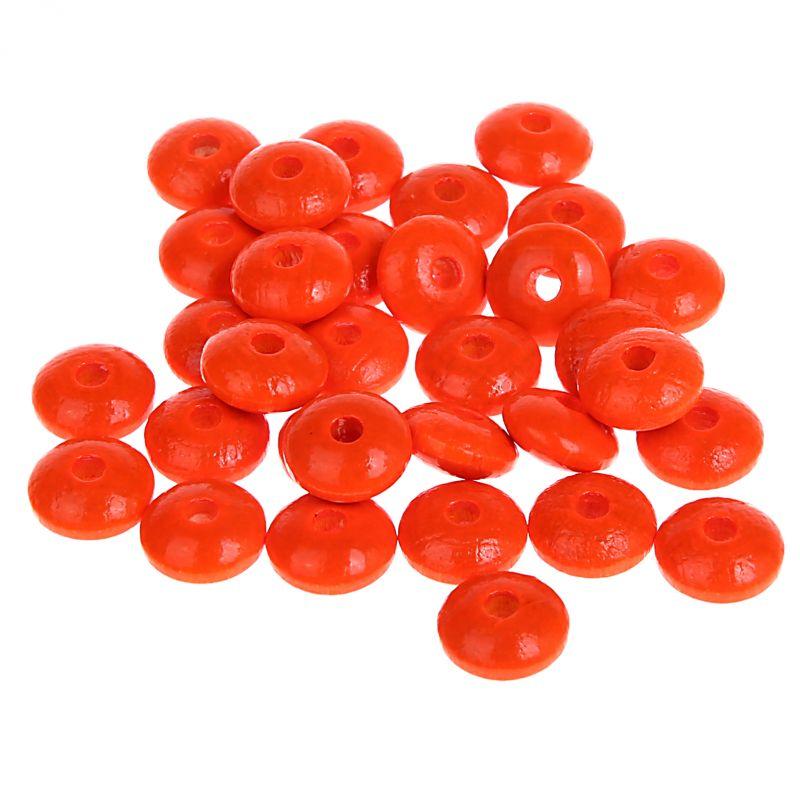 Neonlinsen 10mm • 50 Stück 'neon-orange' 105 auf Lager