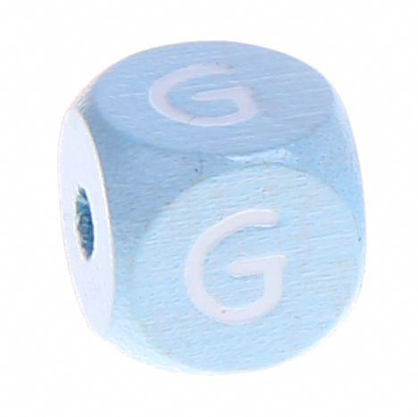 Buchstabenperlen babyblau 10x10mm 'G' 1037 auf Lager