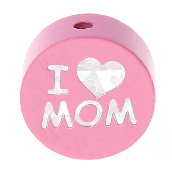 Motivperle I Love MOM / DAD 'babyrosa' 0 auf Lager