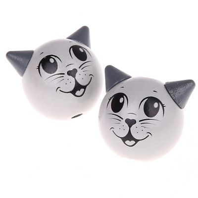 Motivperle 3D Katze 'grau' 0 auf Lager