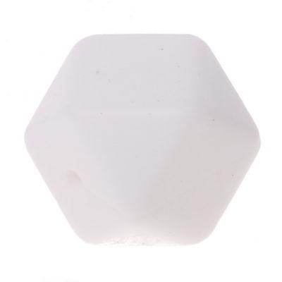 Hexagonperle Silikon 'weiß' -14 auf Lager