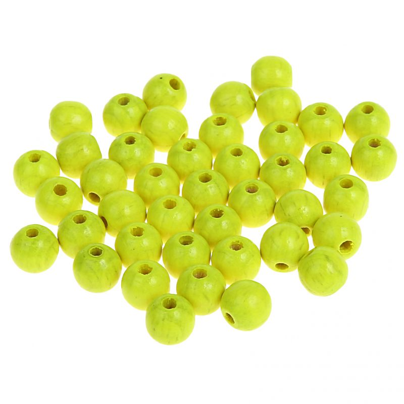 Neonperlen 8mm • 80 Stück 'neon-gelb' 0 auf Lager