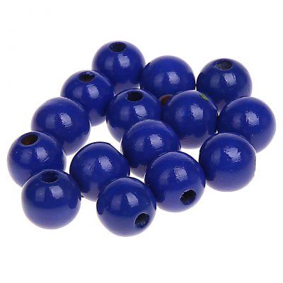 Holzperlen 10mm • 50 Stück 'dunkelblau' 166 auf Lager