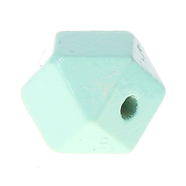 Hexagonperlen 16mm 'mint' 694 auf Lager