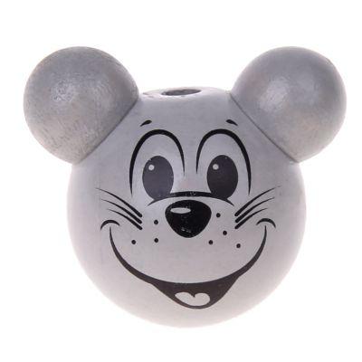 Motivperle 3D Maus 'hellgrau' 3974 auf Lager