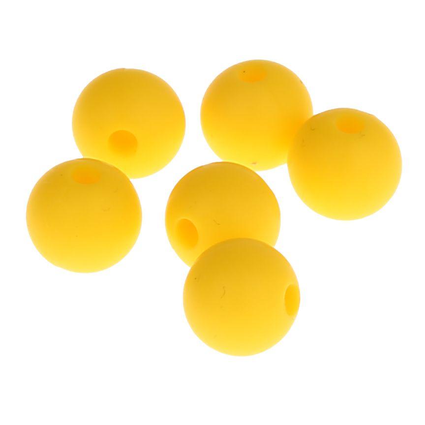 Silikonperle 12mm 'gelb' 3 auf Lager
