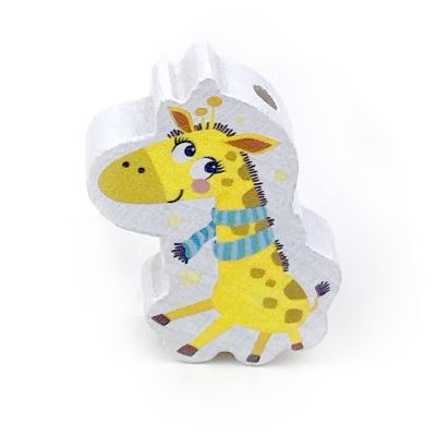 Motivperle Giraffe 'Giraffe Schal mint' 109 auf Lager