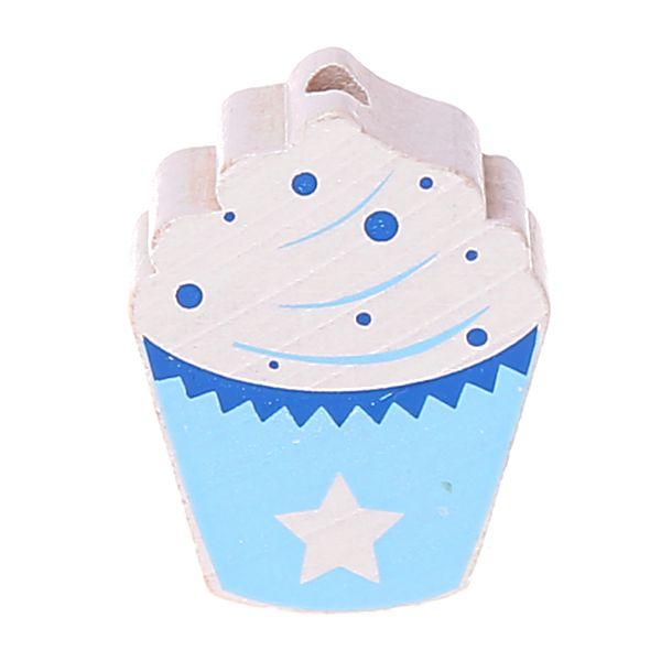 Motivperle Cupcake 'babyblau/blau' 725 auf Lager
