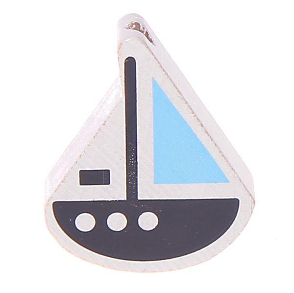 Motivperle Schiffchen 'grau-babyblau' -41 auf Lager