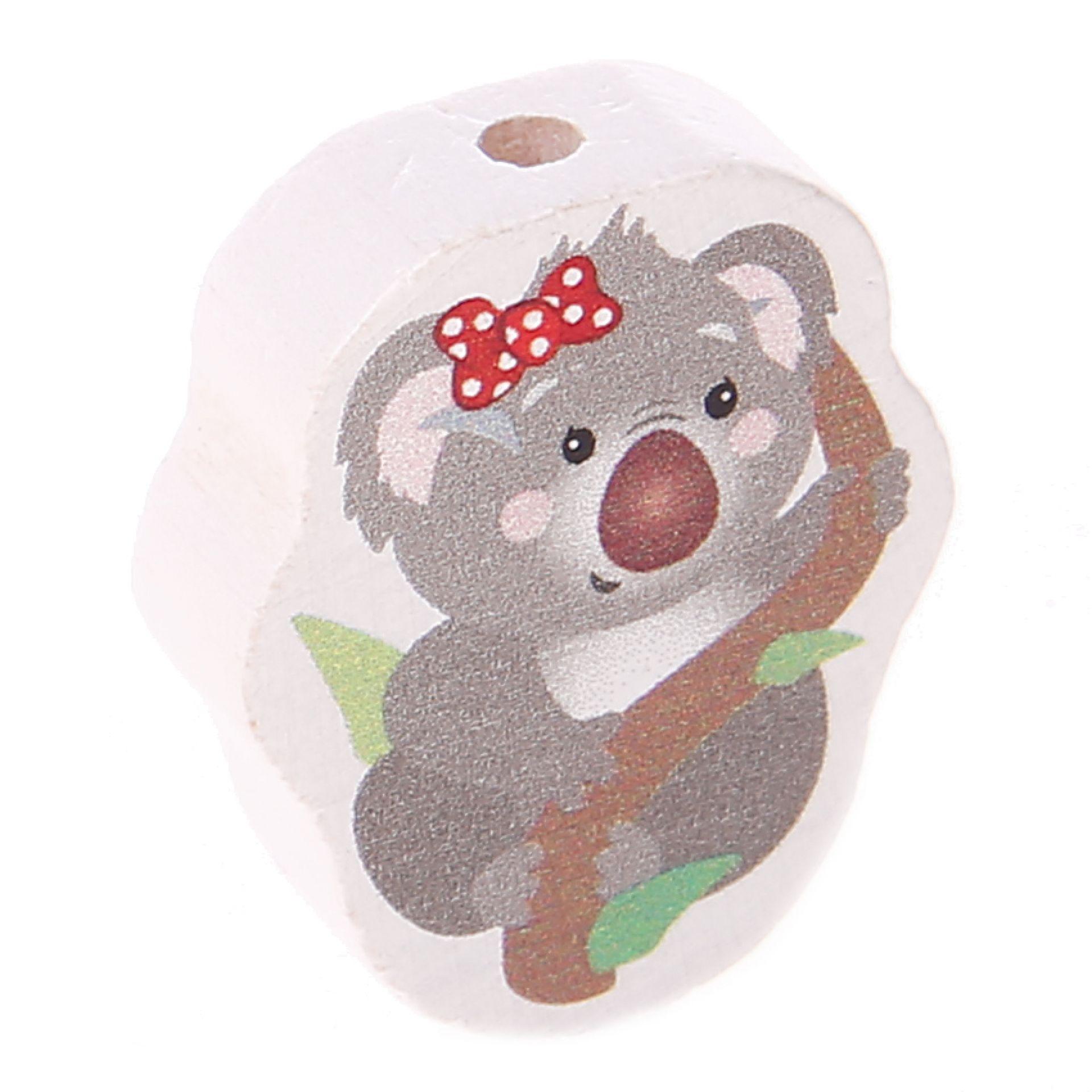 Motivperle Koala 'Schleife rot' 1 auf Lager