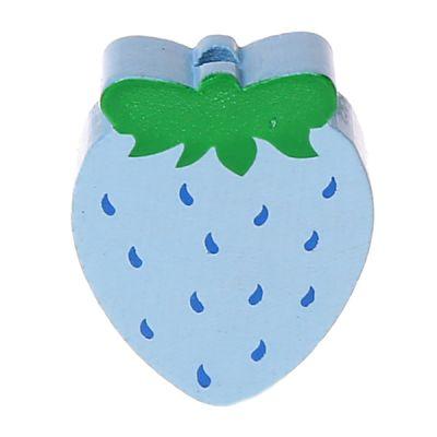 Motivperle Erdbeere 'babyblau' 1669 auf Lager