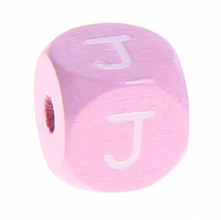 Holzbuchstaben Rosa 10 mm x 10 mm 'J' 759 auf Lager