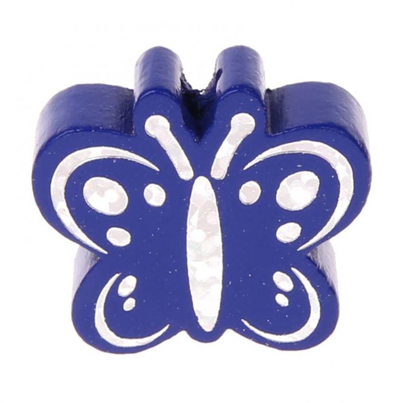 Motivperle Schmetterling Glitzer 'dunkelblau' 1085 auf Lager