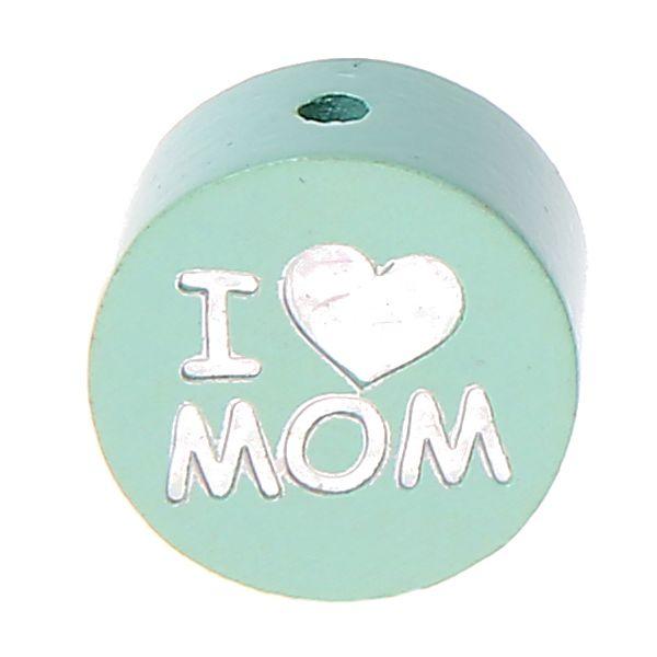 Motivperle I Love MOM / DAD 'mint' 1029 auf Lager