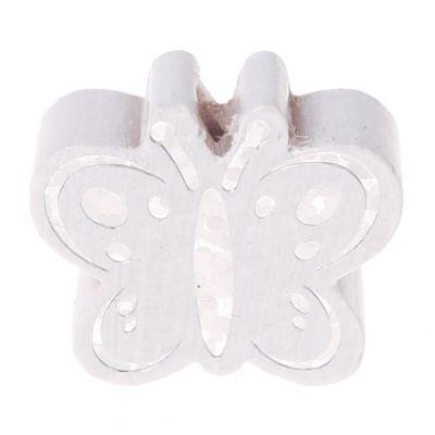 Motivperle Schmetterling Glitzer 'weiß' 581 auf Lager