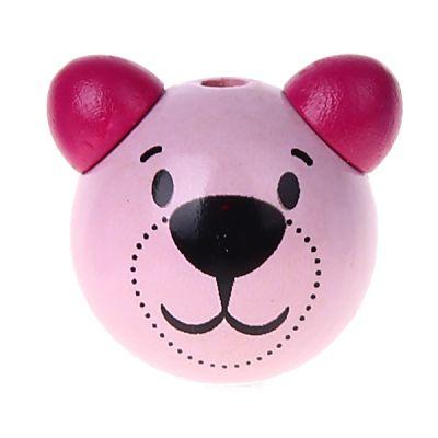 Motivperle 3D Bärchen 'rosa-dunkelpink' 322 auf Lager