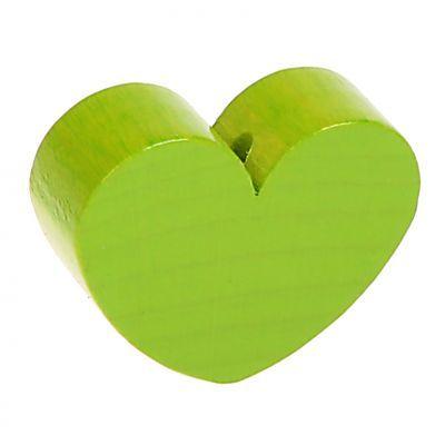 Motivperle Formperle Herz Groß 'gelbgrün' 0 auf Lager